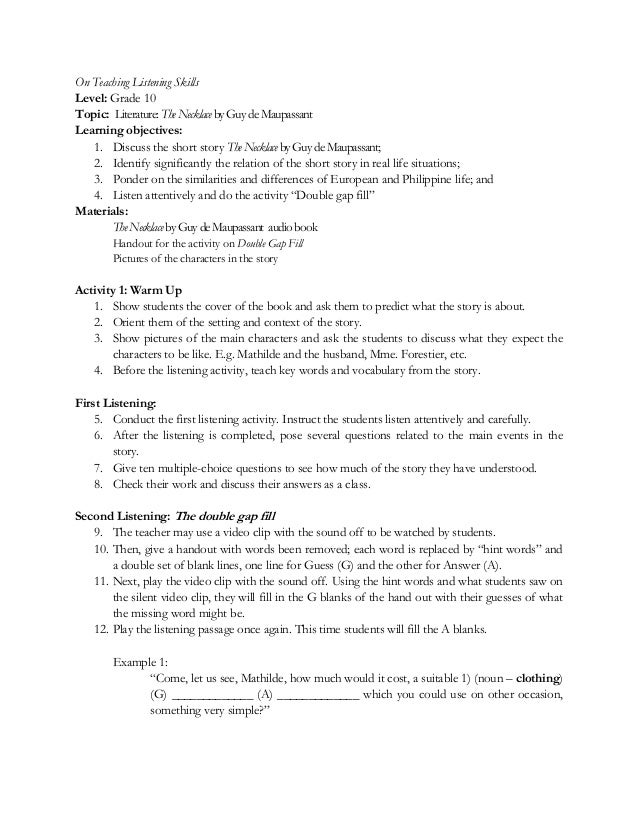 Grammar and listening skills for tesl