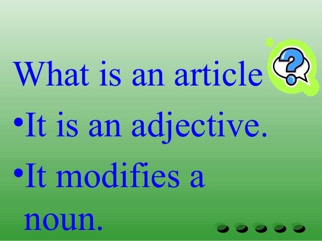 Grammar articles