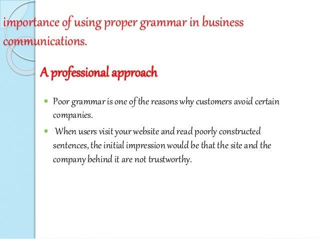 poor grammar in business