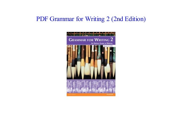 new PDF '18 Grammar for Writing 2 (2nd Edition) All in One