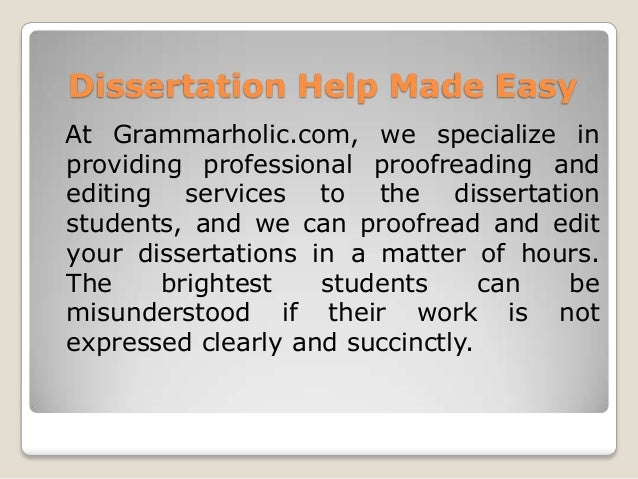 Specialized Dissertation Editing and Proofreading Service Online