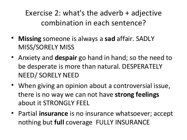 Grammar Ii Adverbs And Adjectives