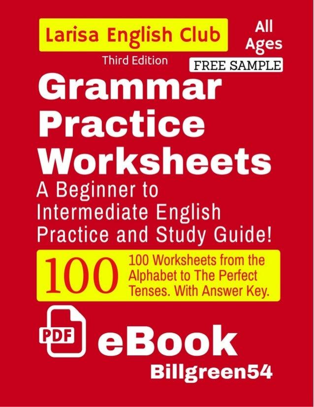 Grammar Practice Worksheets ESL English