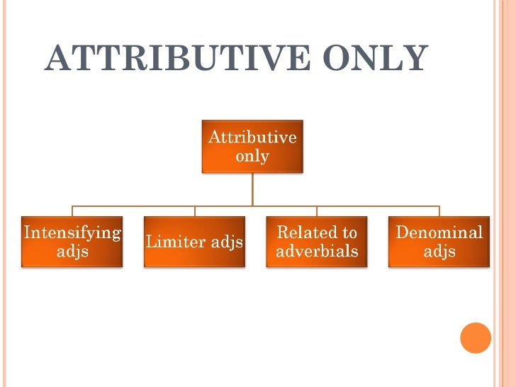 ATTRIBUTIVE ONLY