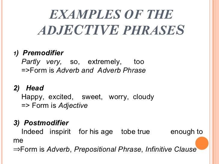 phrase – Adjective Phrases Worksheet
