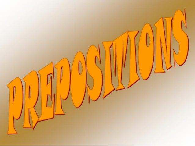 Grammar prepositions