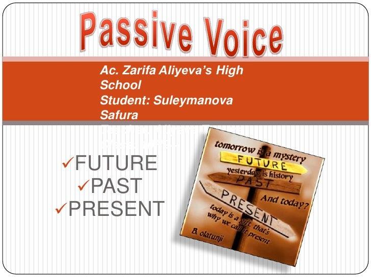Ac. Zarifa Aliyeva's High   School   Student: Suleymanova   Safura   Teacher: Aliyeva Tamara   Class: 10R2+ FUTURE  PAST...