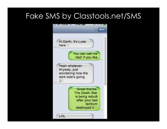 Fake SMS by Classtools.net/SMS