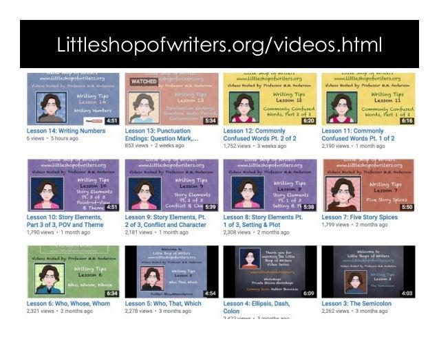 Littleshopofwriters.org/videos.html