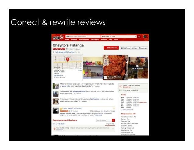 Correct & rewrite reviews