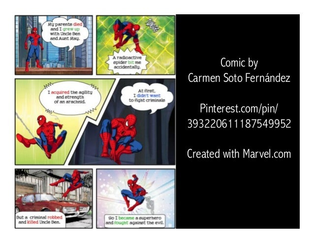 Comic by Carmen Soto Fernández Pinterest.com/pin/ 393220611187549952 Created with Marvel.com
