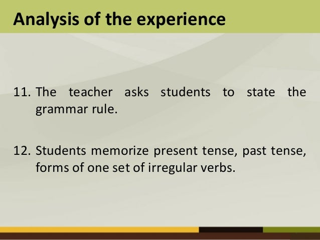 advantages and disadvantages grammar translation method The grammar-translation method aimed to make the language learner's   advantages: it enriches one's vocabulary, increases the number of figures of   says the main disadvantages are that it cannot be used with classes of different.