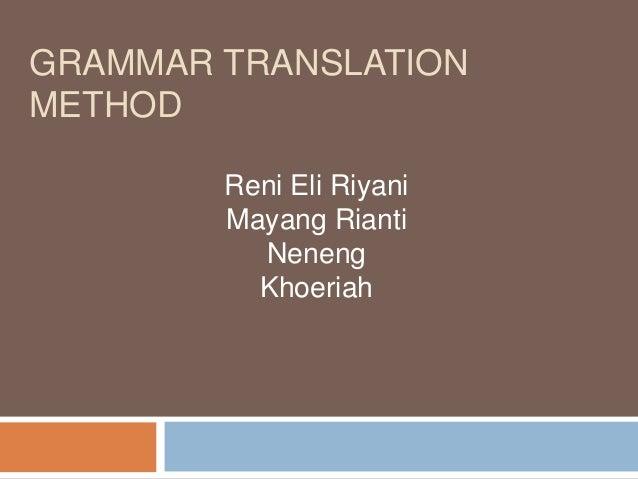essays on grammar translation method