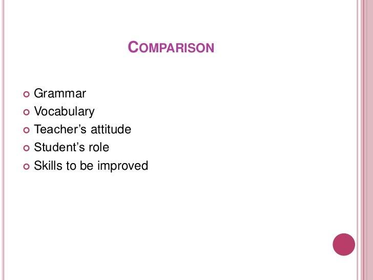 Grammar translation method and Direct method comparasion Slide 2