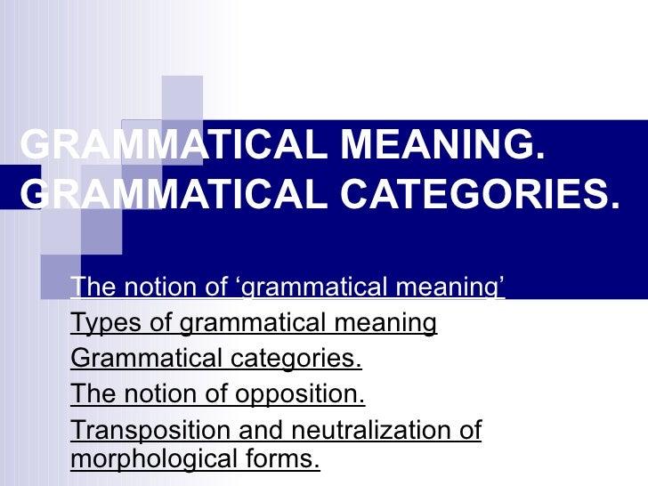 grammatical interpretation