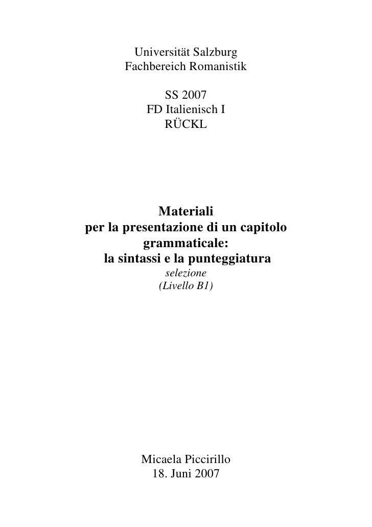 Grammatikarbeit piccirillo pdf