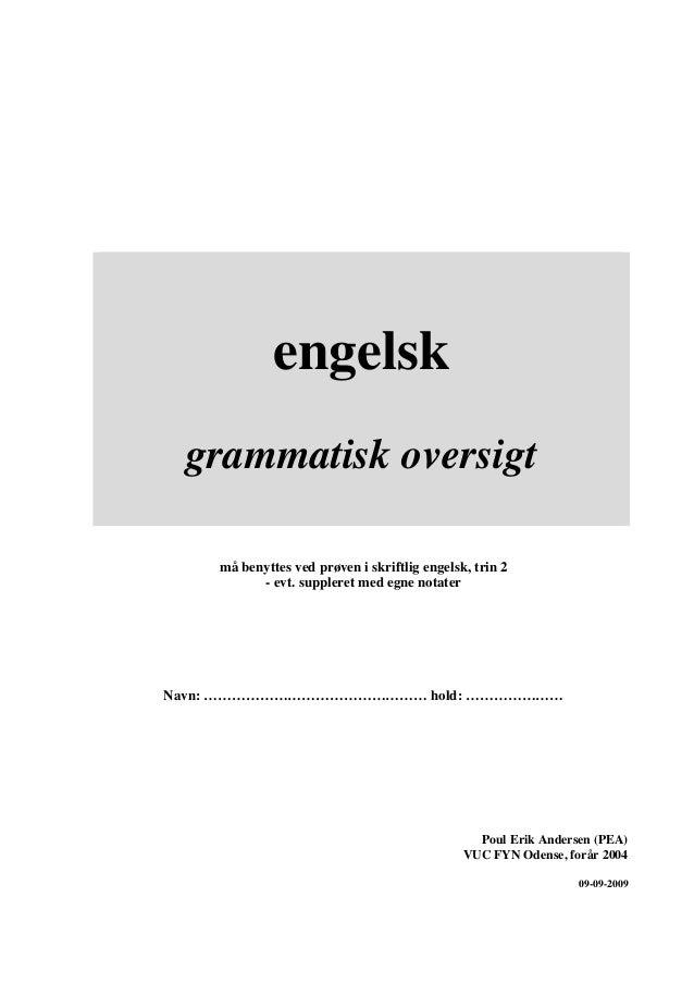 Grammatisk Oversigt Engelsk