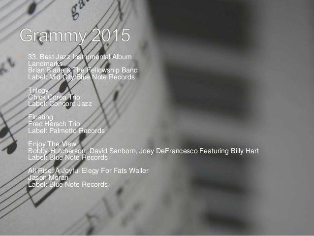 Grammy award 2015 ConceptDraw MindMap Fats Waller Grammy Awards
