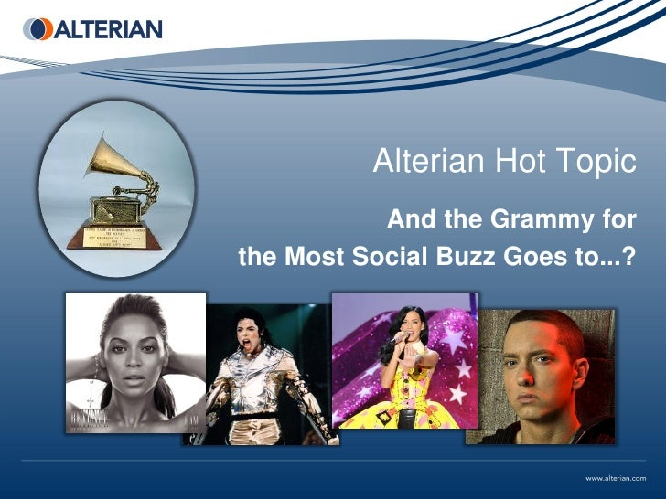 Alterian Hot Topic           And the Grammy forthe Most Social Buzz Goes to...?