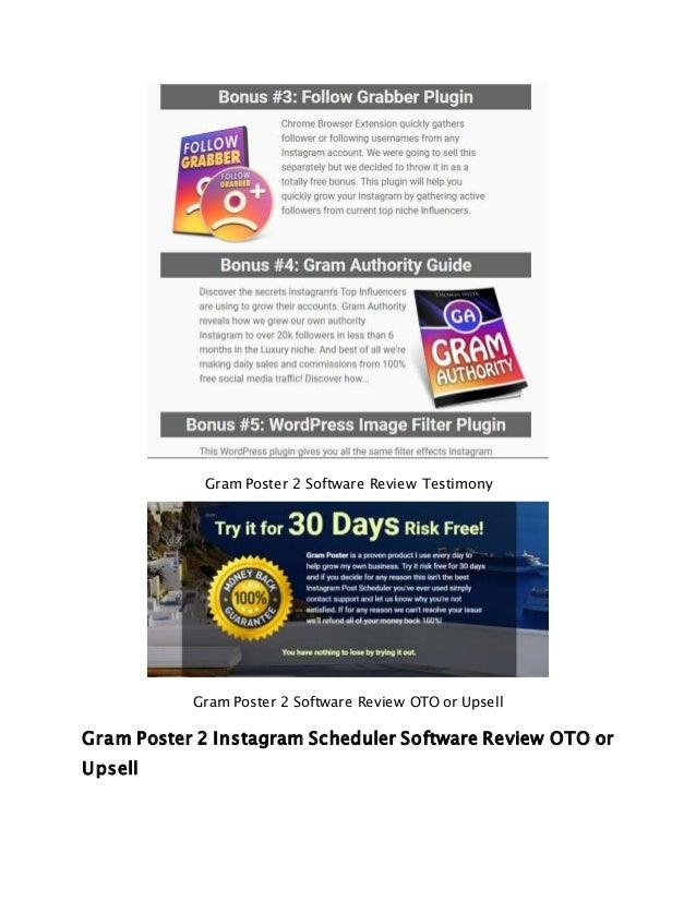 Gram Poster 2 Instagram Scheduler Software Review
