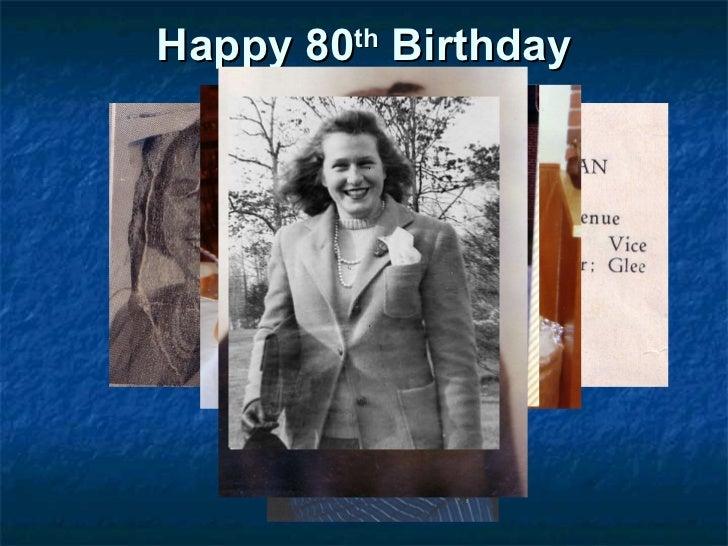 Happy 80 th  Birthday Rita Short