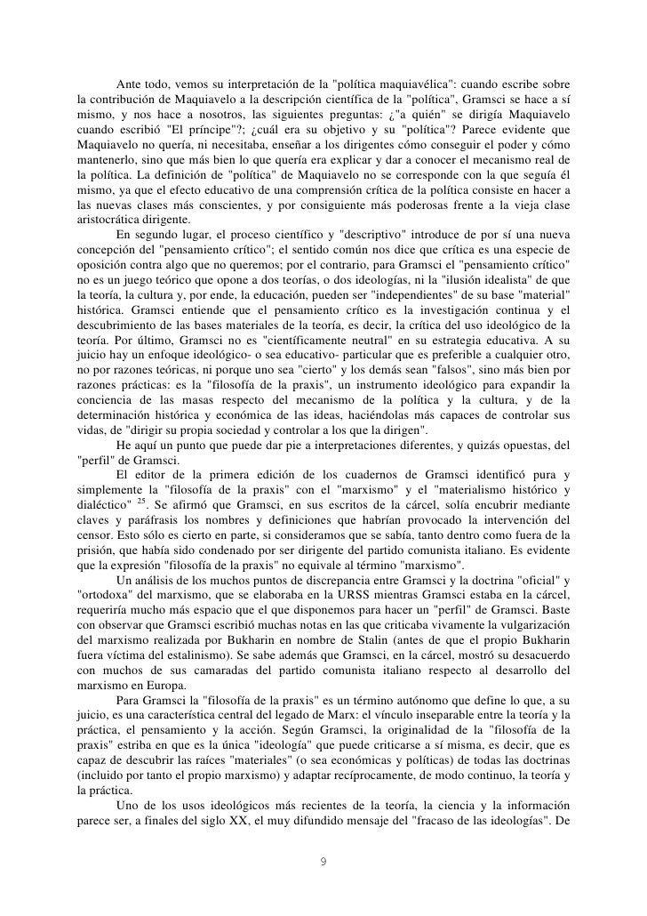 """Ante todo, vemos su interpretación de la """"política maquiavélica"""": cuando escribe sobrela contribución de Maquiavelo a la d..."""