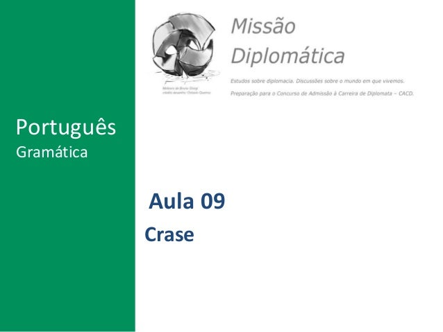 Aula 09 Crase Português Gramática