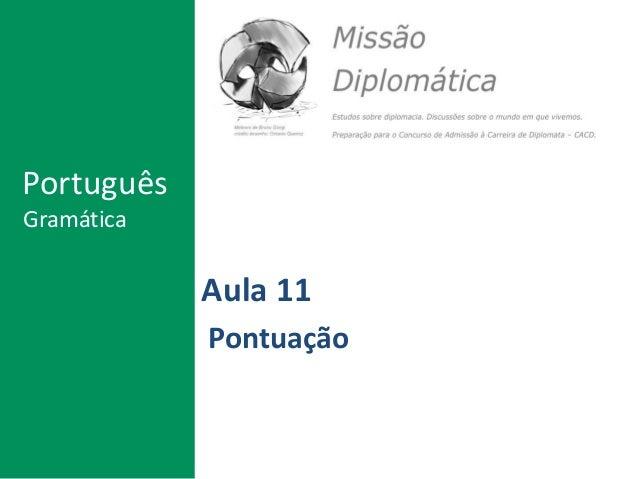 Aula 11 Pontuação Português Gramática