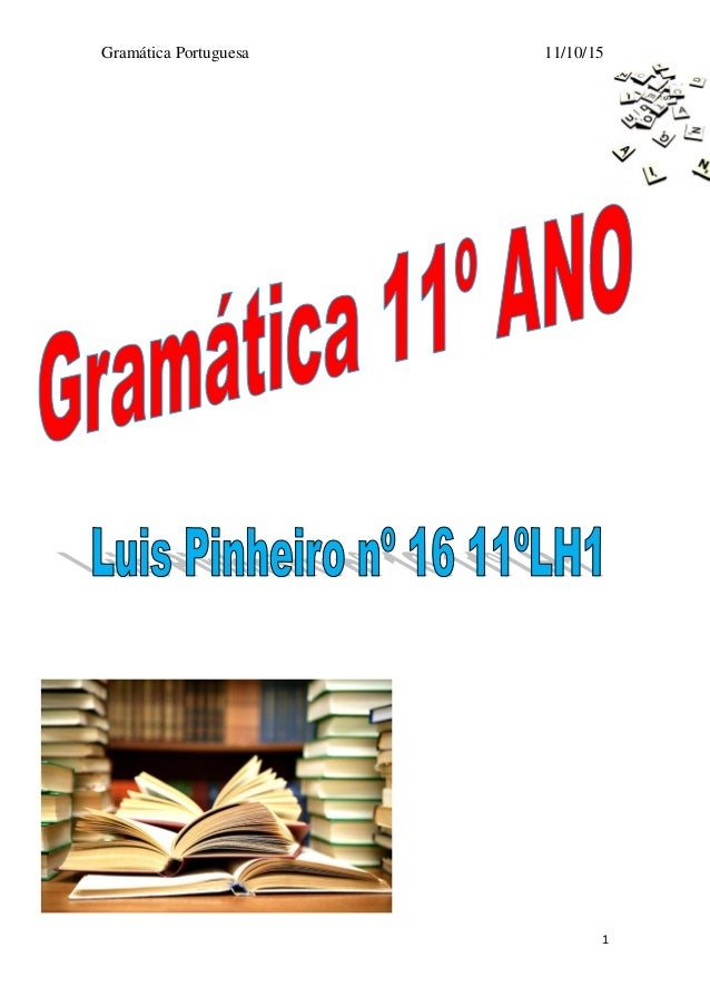 Gramática Portuguesa 11/10/15 1