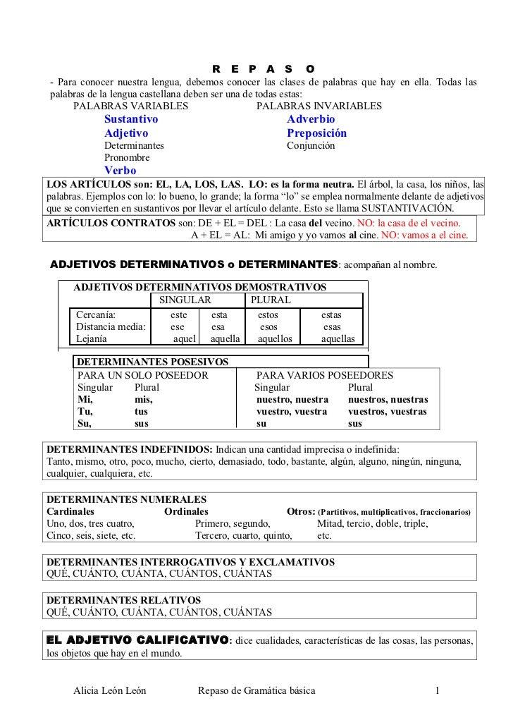gramatica española pdf ejercicios