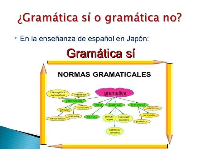  En la enseñanza de español en Japón: Gramática síGramática sí