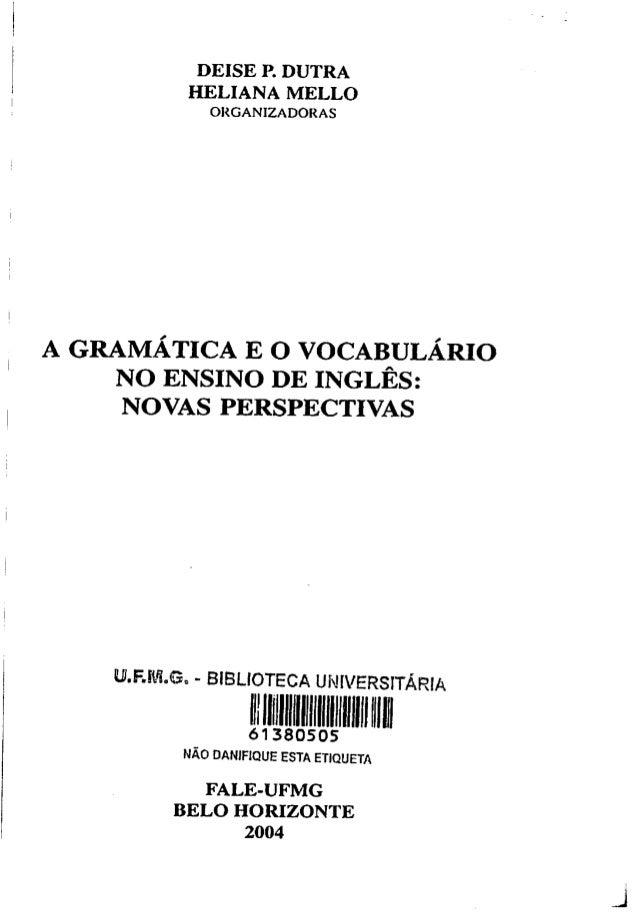 Gramática e o vocabulário no ensino de inglês   novas perspectivas Slide 2