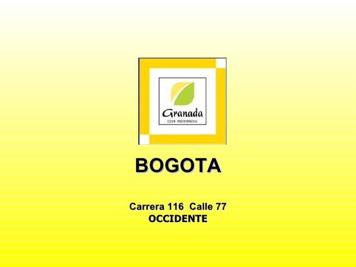 BOGOTA Carrera 116  Calle 77 OCCIDENTE