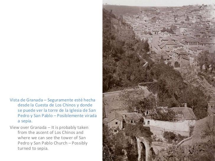 <ul><li>Vista de Granada – Seguramente esté hecha desde la Cuesta de Los Chinos y donde se puede ver la torre de la Iglesi...
