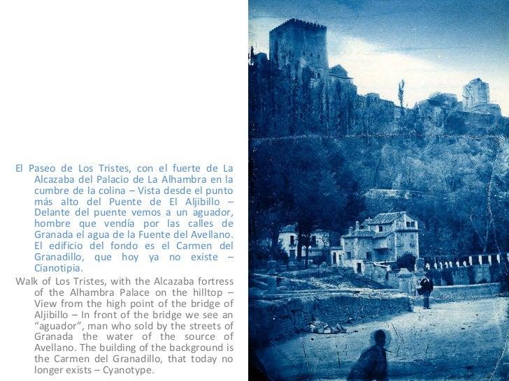 <ul><li>El Paseo de Los Tristes, con el fuerte de La Alcazaba del Palacio de La Alhambra en la cumbre de la colina – Vista...