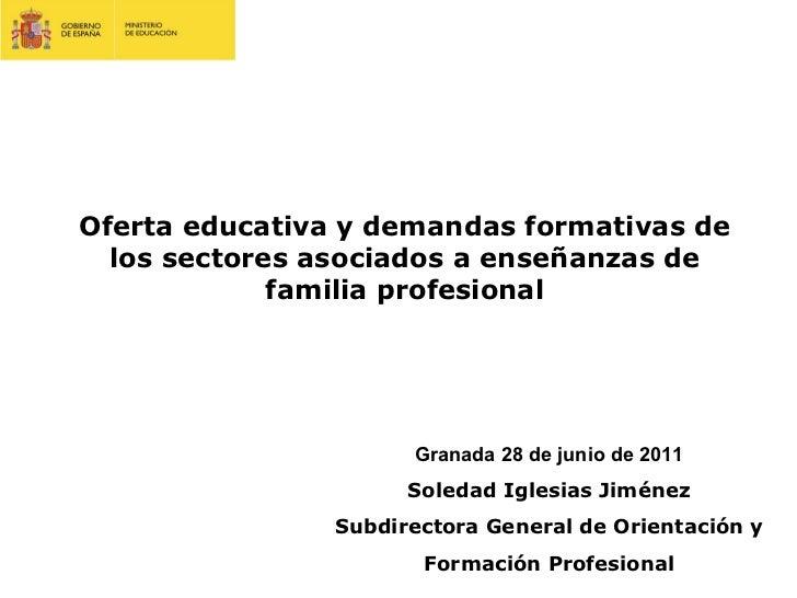 Oferta educativa y demandas formativas de los sectores asociados a enseñanzas de familia profesional Granada 28 de junio d...