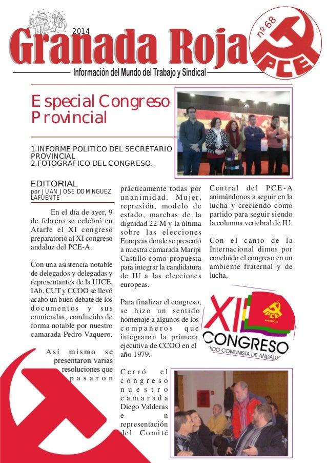 68 nº  2014  Especial Congreso Provincial 1.INFORME POLITICO DEL SECRETARIO PROVINCIAL 2.FOTOGRAFICO DEL CONGRESO.  prácti...