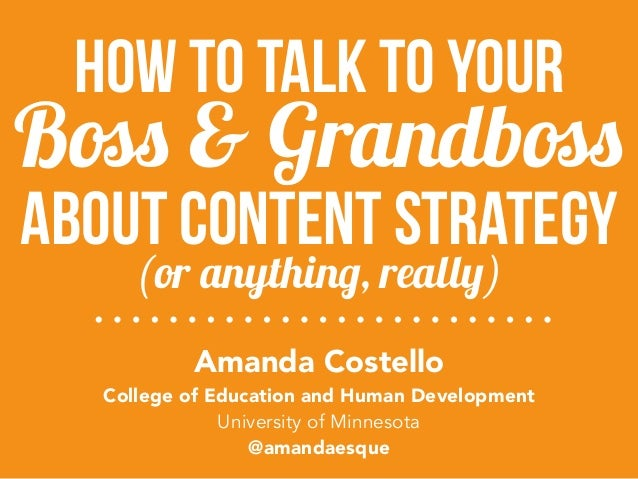 about content strategy Amanda Costello