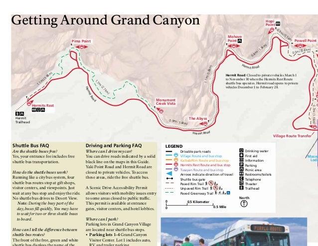 NostalgicOutdoors Grand Canyon National Park South Rim Guide Maps