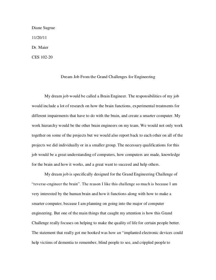 my dream company essay