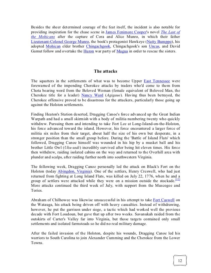 a comparison of the uncas and magua indians in james fenimore coopers the last of the mohicans An introduction to the last of the mohicans by james fenimore  indians in the book uncas and chingachgook were thought to be too idealized, and magua.