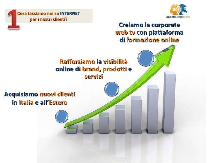Cosa facciamo noi su  INTERNET   per i nostri clienti?   Acquisiamo  nuovi clienti  in  Italia  e all' Estero Creiamo la c...