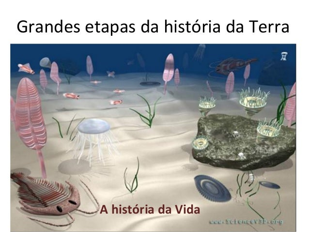 Grandes etapas da história da Terra          A história da Vida
