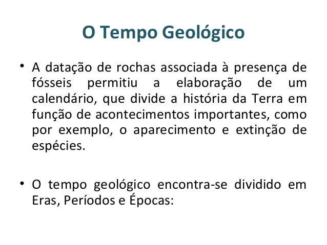 Grandes etapas da história da terra Slide 2