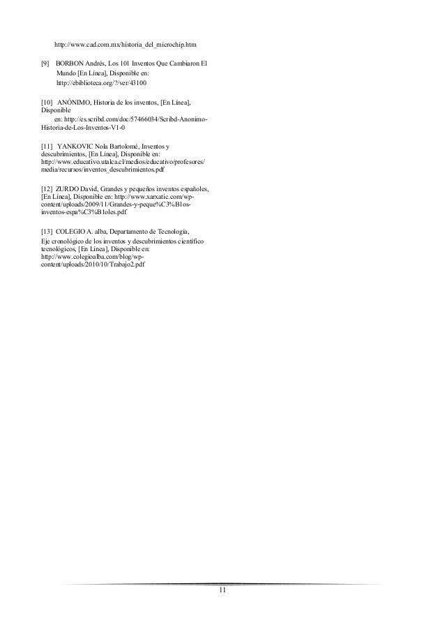 inventos y descubrimientos pdf