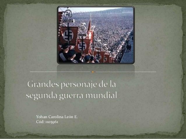 Yohan Carolina León E. Cód: 1105961