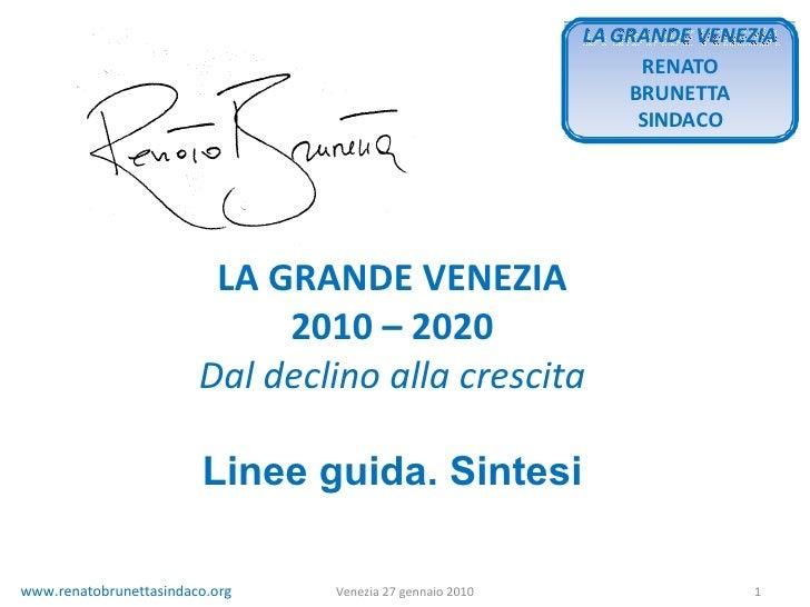 Grande Venezia Programma Sintetico 27 01 2010