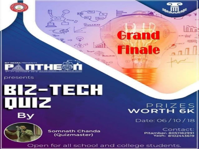 Biz-Tech Quiz Grand Finale