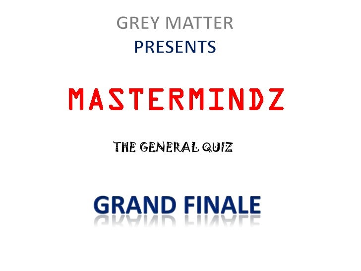 THE GENERAL QUIZ