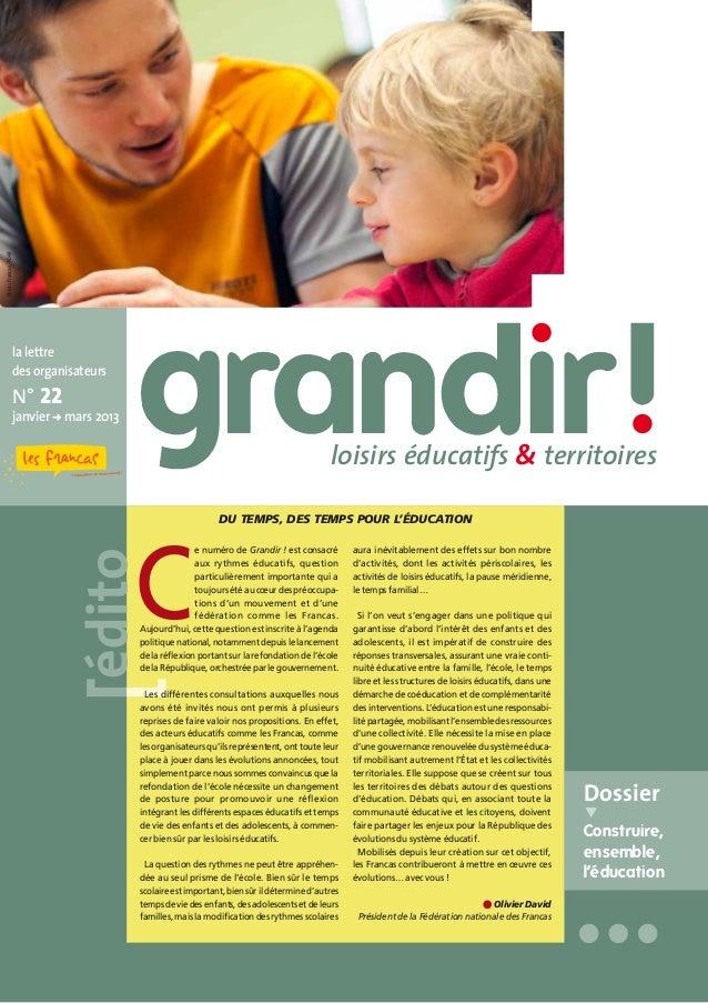 © Les Francas, AD44                  la lettre                  des organisateurs                  N° 22                  ...